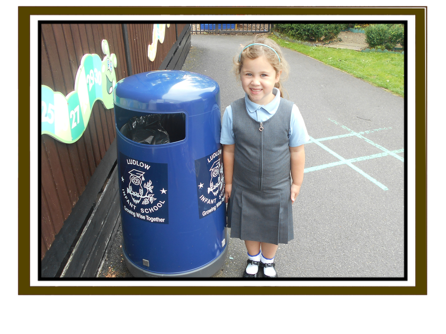 Amelia spotted the plastic bin