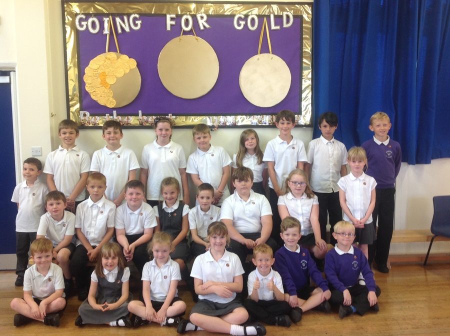 1st Gold Medal winners of the new school year.