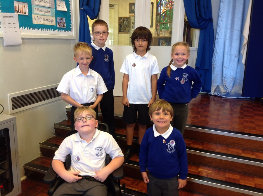 Pupils nominated by their peers for demonstrating 'Growth Mindset'.