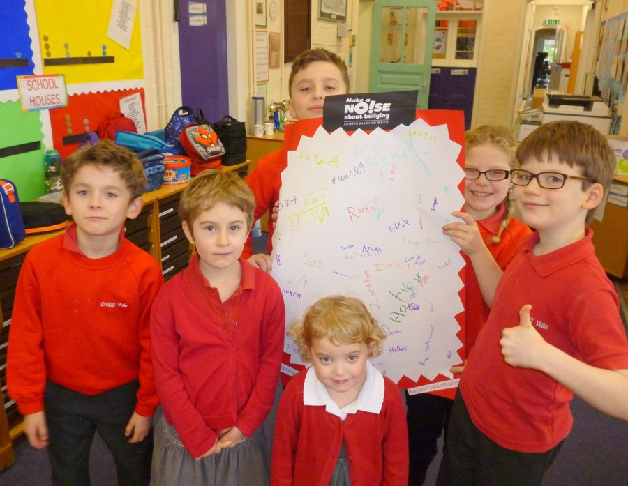 During Anti-Bullying Week our School Council created a charter to which all members of school signed up