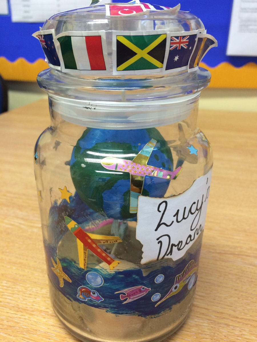 Lucy's Dream Jar to inspire her writing