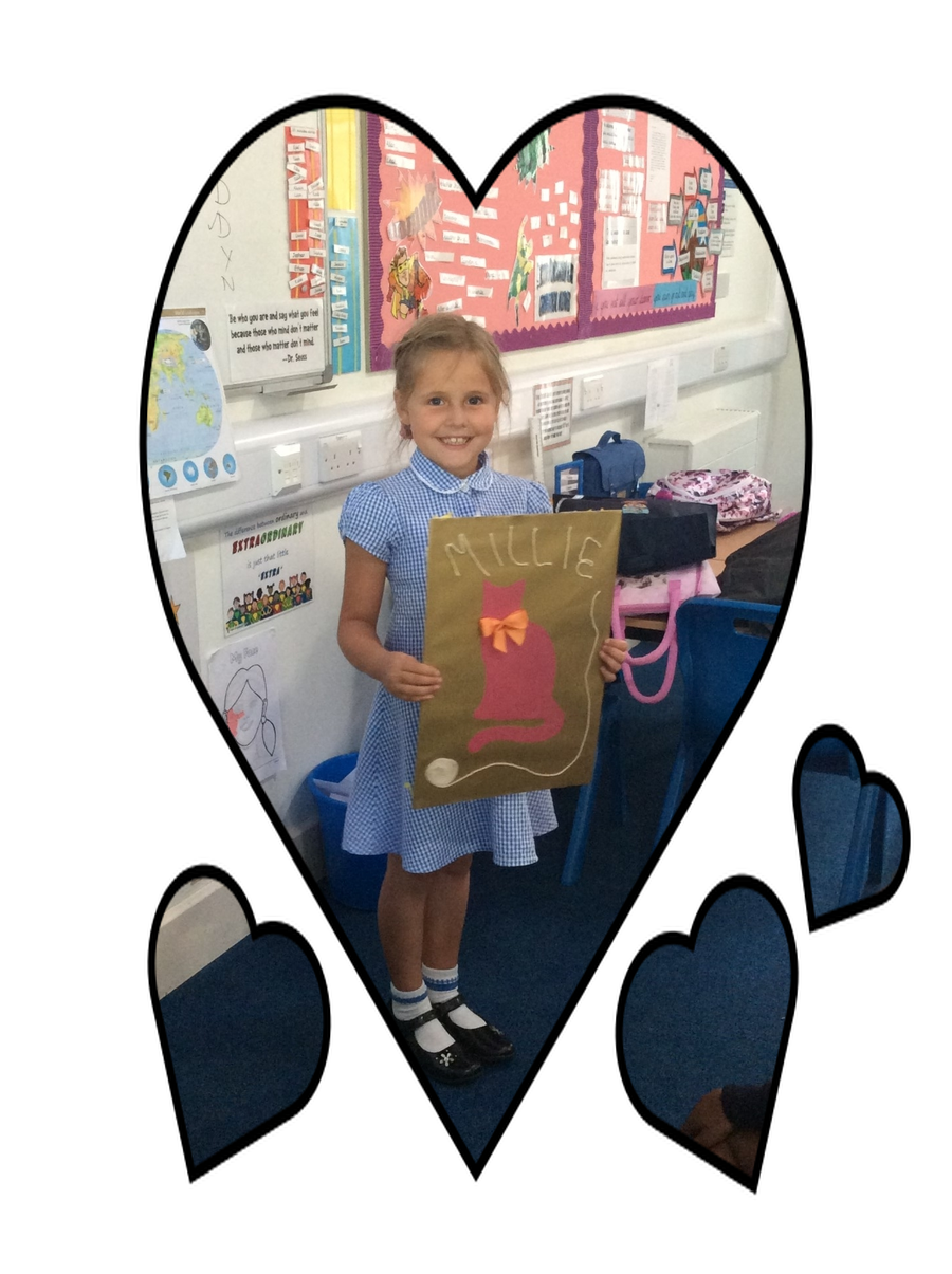 Sadly, Falcon class say goodbye to classmate Millie and wish her well at her new school