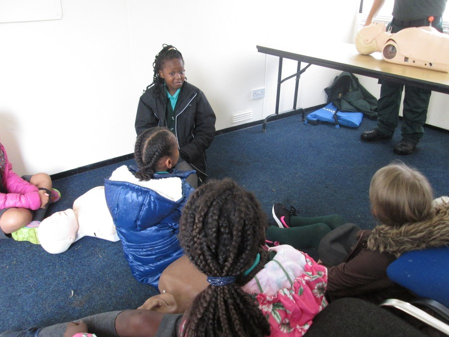 Practicing some CPR with St Johns Ambulance service.