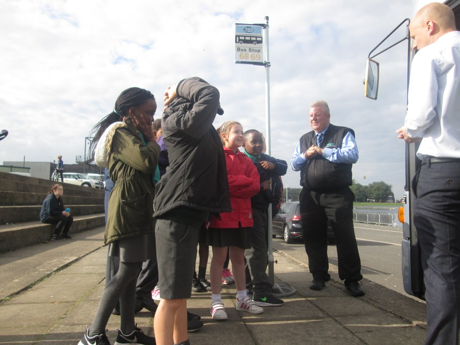 Learning Bus and Tram safety.