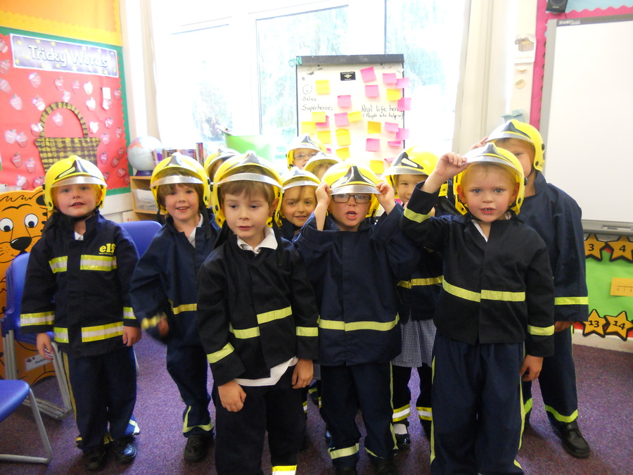 The fire service came to visit Class 2....