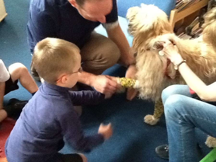 and Mr Babb looked after Aero the dog!