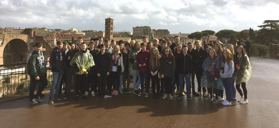 The Geography Department's trip to Italy; Pupils at the Roman Forum