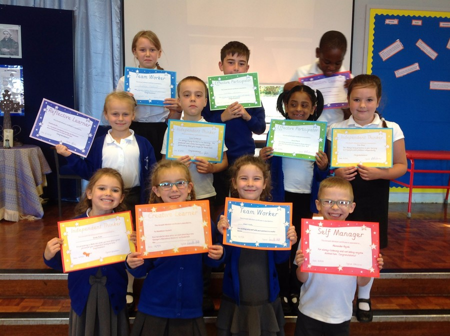 Pupils nominated by their teacher for demonstrating 'Growth Mindset'