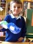 Mason made a colourful superhero mask.