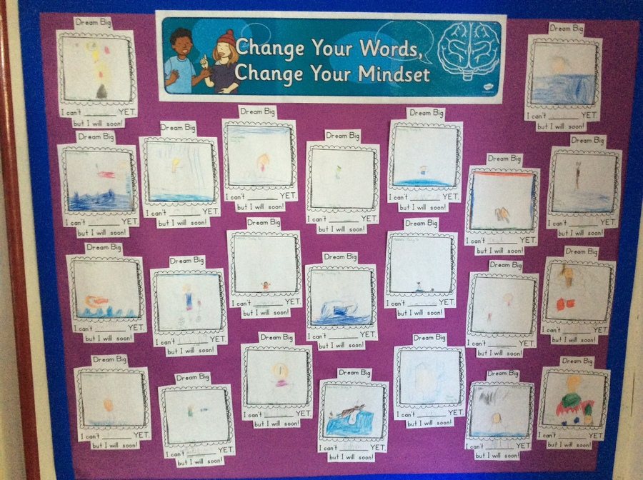 We have a great Growth Mindset. We know that there are things we can't do 'yet' and don't worry about making mistakes because we know that they help your brain to grow. We are Brilliant Badgers!