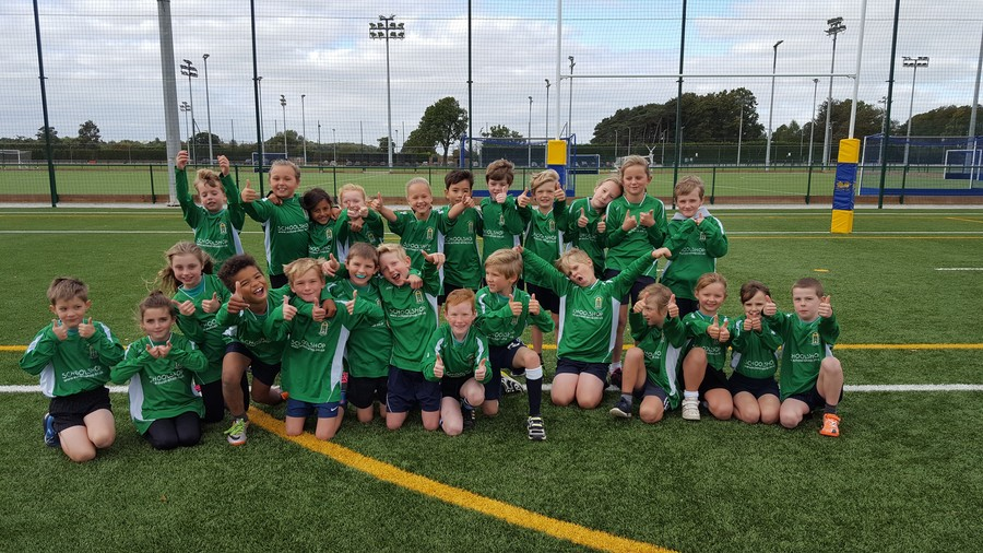 We all took part in a Tag Rugby competition at Queen Ethelburga's