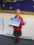 Belle also shared her swimming certificate with us all.