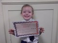 Year 1<p>Maisie - for trying so hard at home and in school with her letter sounds.</p>