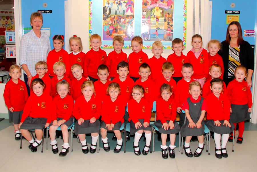 Meet everyone in P.1 Mrs Maher's class with Mrs Thompson