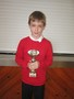 George received a special trophy for being Man of the Match at a Workington Reds Junior game.