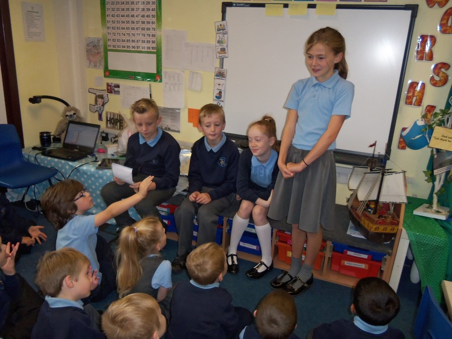'I enjoyed leading the class worship with the theme of CREATION in Year 1.  We talked about caring for pets, babies and everyone around us.' Maisy Y5