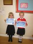 Charlotte and Alexis received their Stage 1 swimming certificates.
