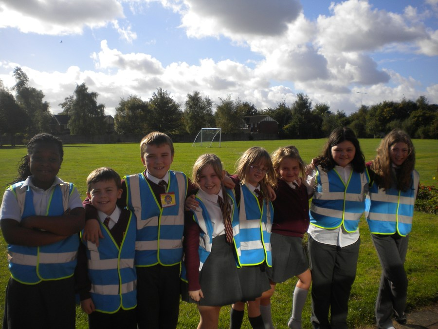 The Anti-Bullying Ambassadors wear blue hi-vis vests so they are easily seen at playtimes and lunchtimes!