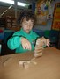 Building with wooden blocks