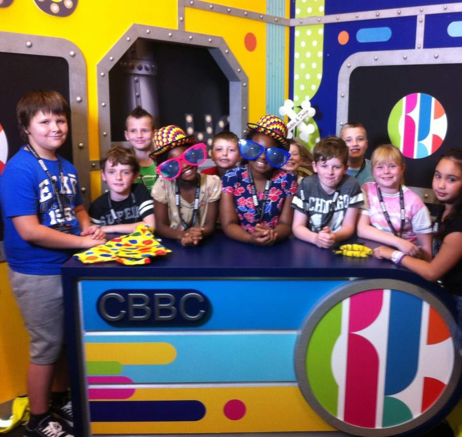 Summer School 2016 - Pupils visited the CBBC studios in Salford and had a great time hosting some of their favourite television programmes.