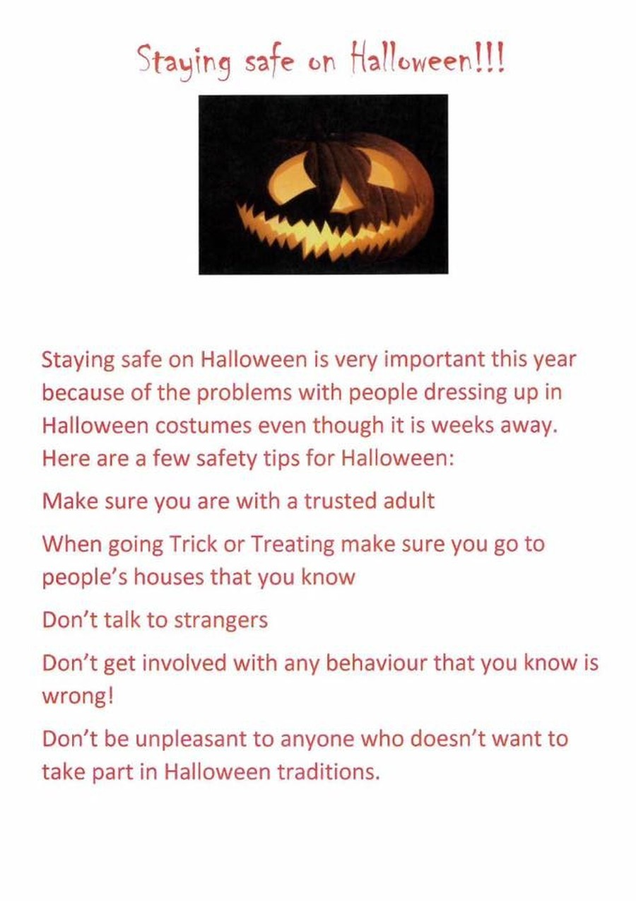 Halloween Safety Advice from our Press Pack