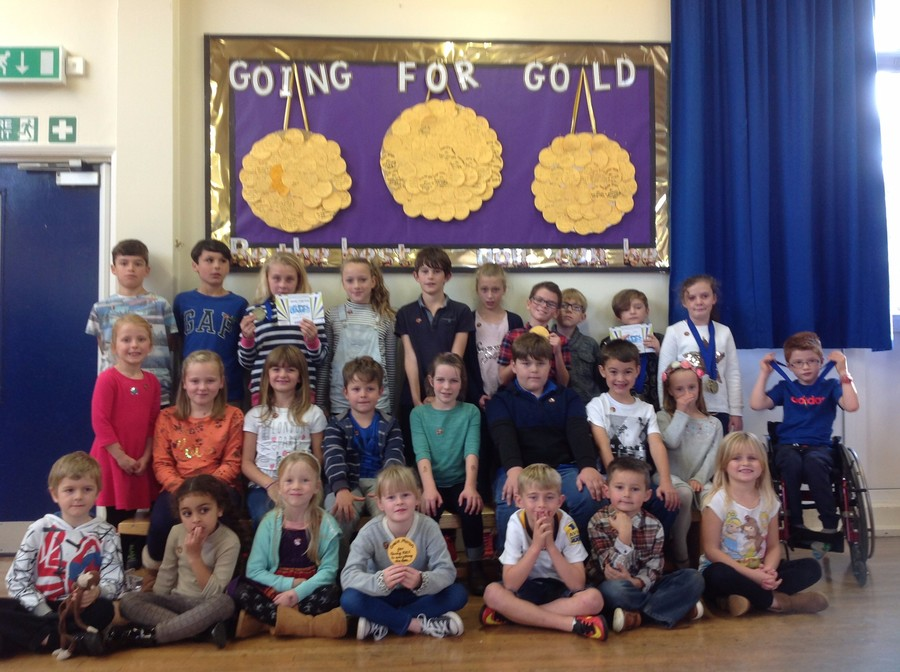 Gold Medal and Boccia Winners this week.