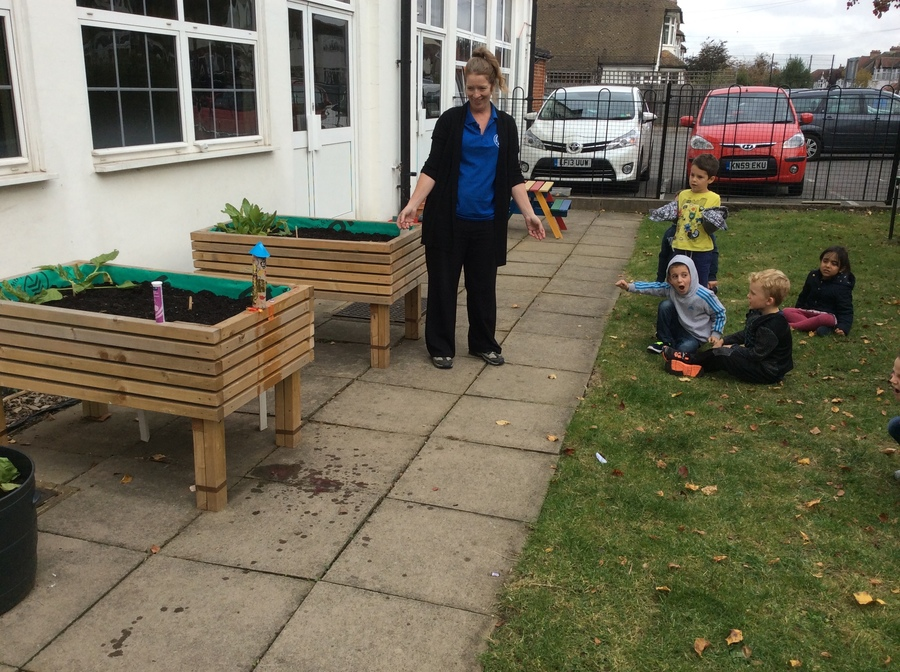 We launched one the children rockets in the garden, the children loved watching it go!