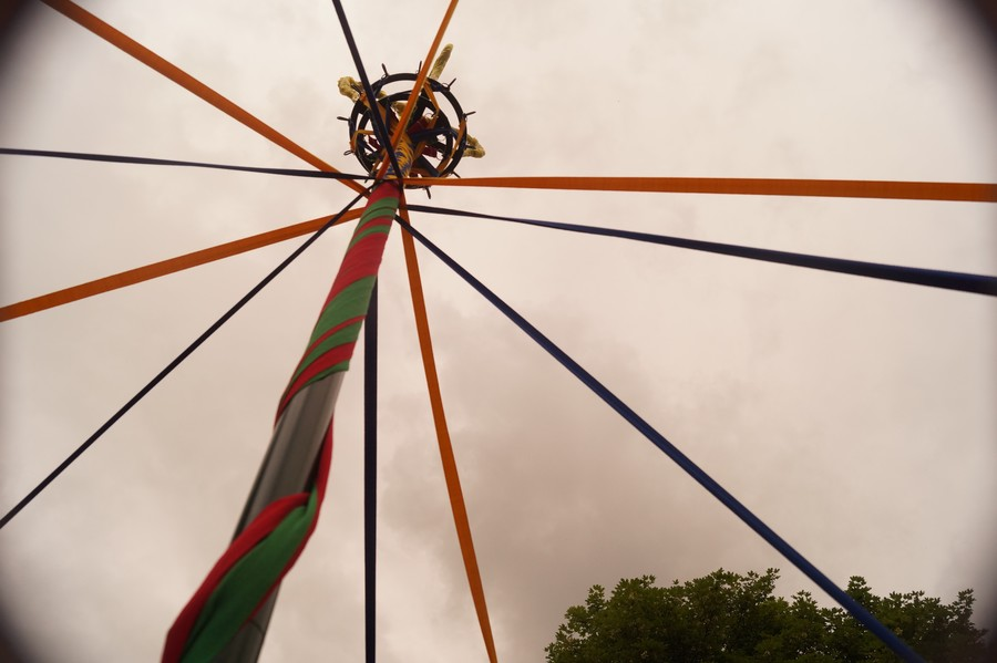 Village flower festival & Maypole dancing