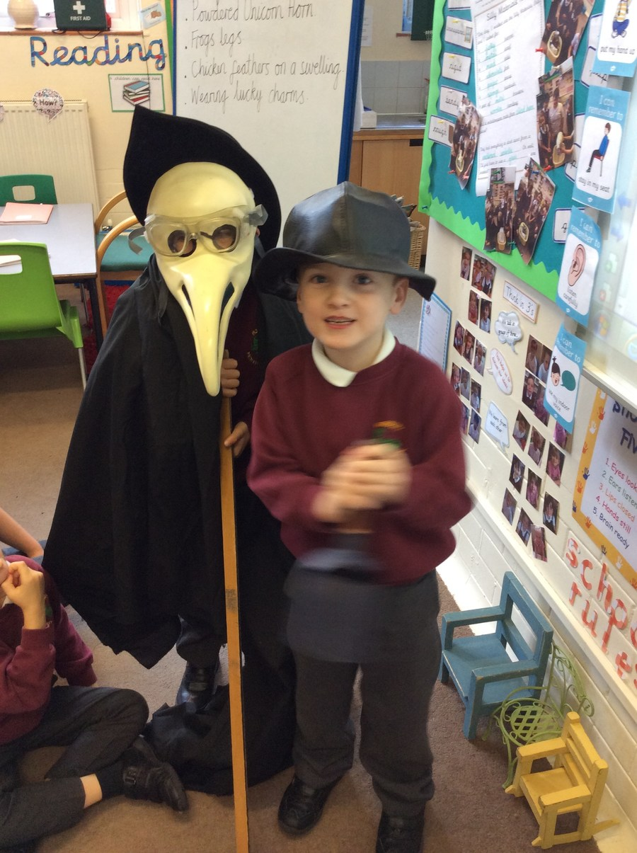 The children really enjoyed learning about The Plague Doctor