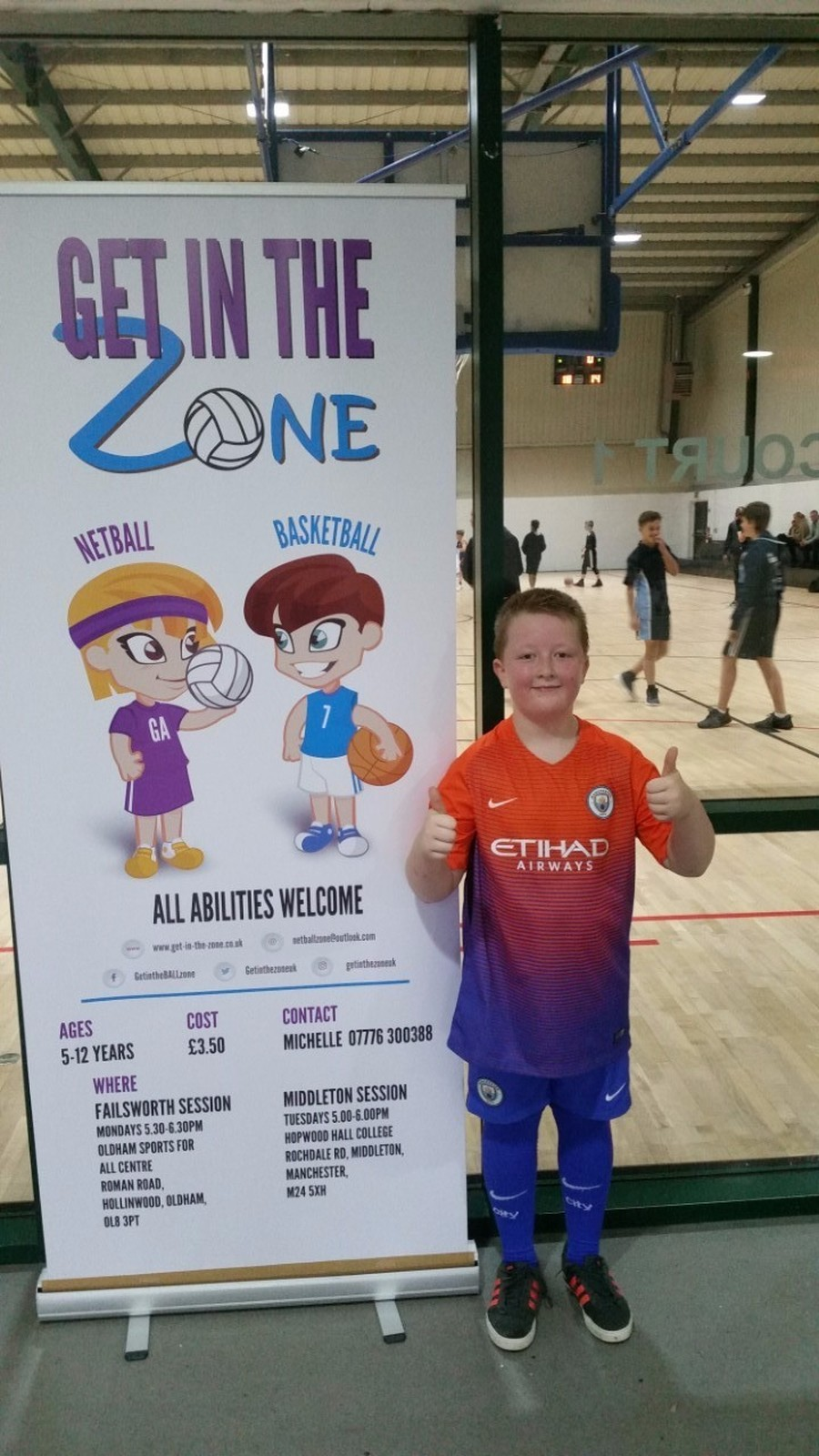 Bradley has been training with get in the zone. He played his first game of basketball today. The team did great and they won 18-14. Fantastic news keep it up.