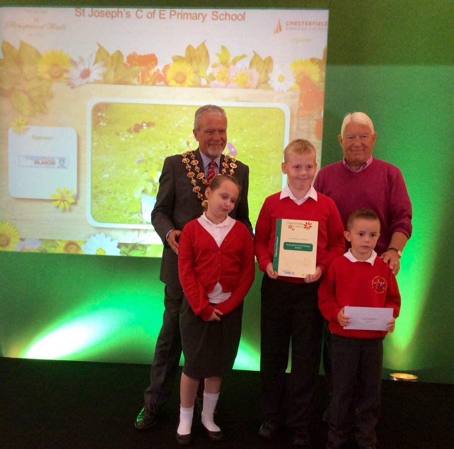 Collecting our Chesterfield in Bloom awards