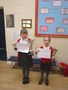 Faye and Meya won individual trophies at the Workington Music Festival. They both recited their poems in assembly.