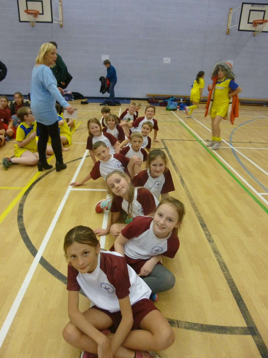 Some of KS2 at the athletics tournament who came 4th out of 12 schools