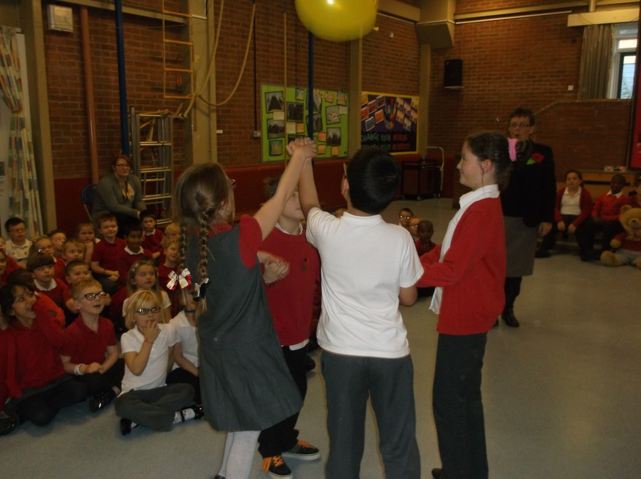 Friday's assembly was all about Resilience and Together We Learn - here we are doing it!