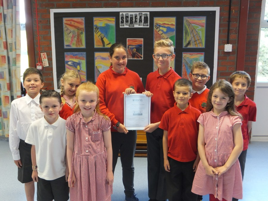National 'Achievement For All' Award - this quality award recognises the work done by the school to improve progress in reading, writing and maths for all pupils. Mrs Kellett said that the whole school has worked together to make the changes that led to us receiving the national accolade.