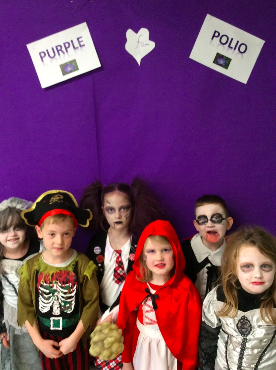 All dressed up and looking scary on Purple 4 Polio Day