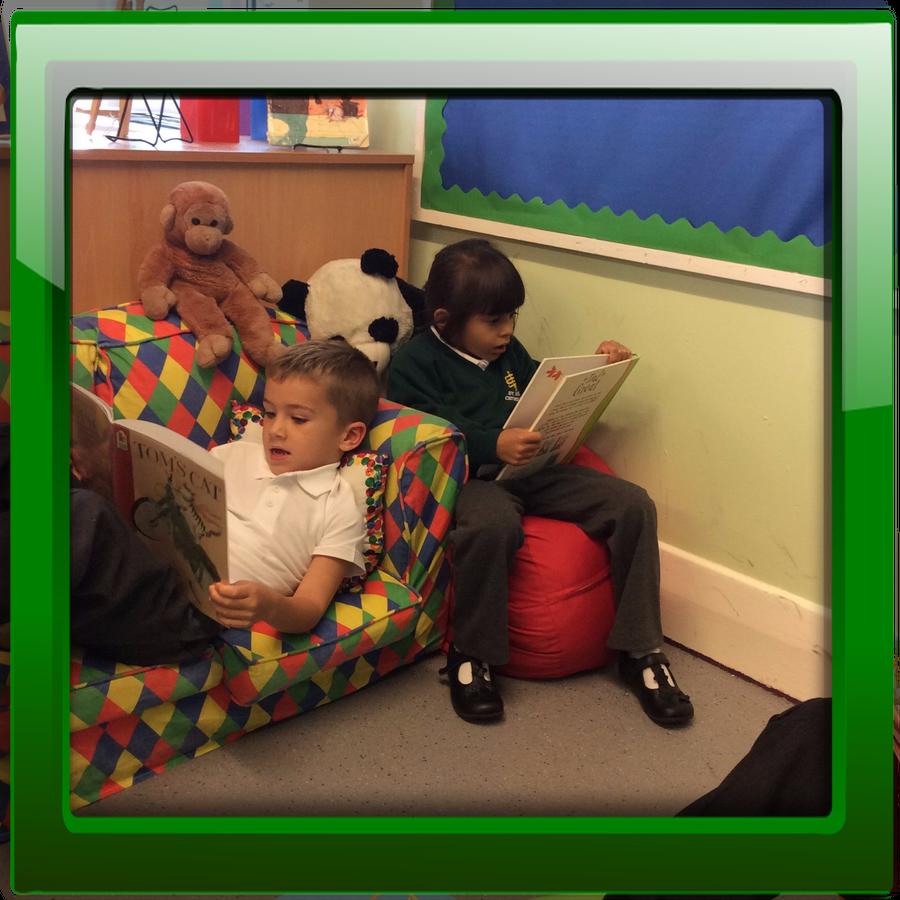 We love reading in the book corner!