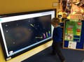 and played a game on the computer, lighting the numbered rockets in the correct order.