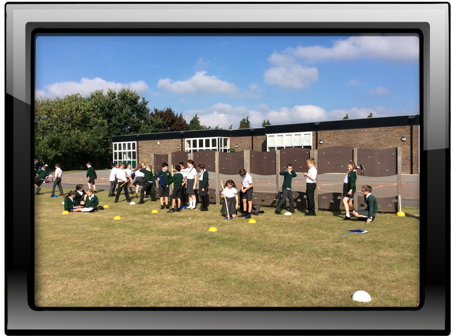 Year 6 enjoyed an Outdoor Maths Lesson Calculating the Four Averages
