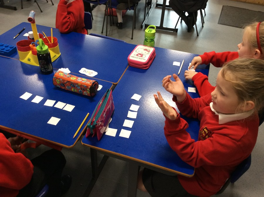 Using paper squares to make some sums