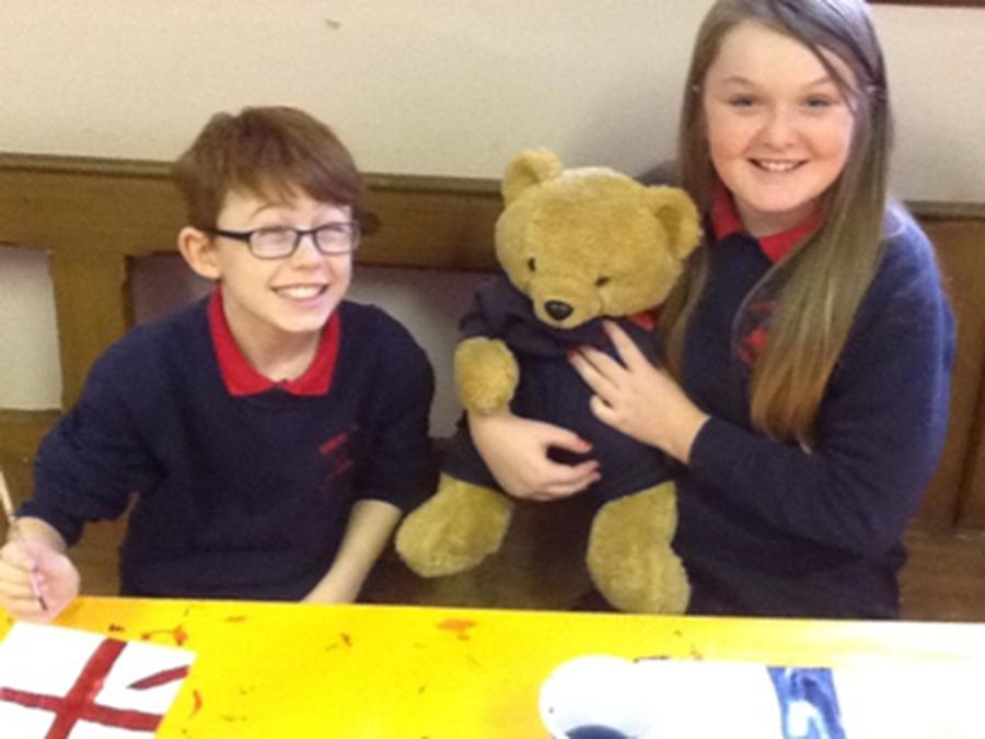 Jo Jo the school teddy bear is awarded to one class each week.