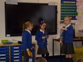 Performing poems with music to the class