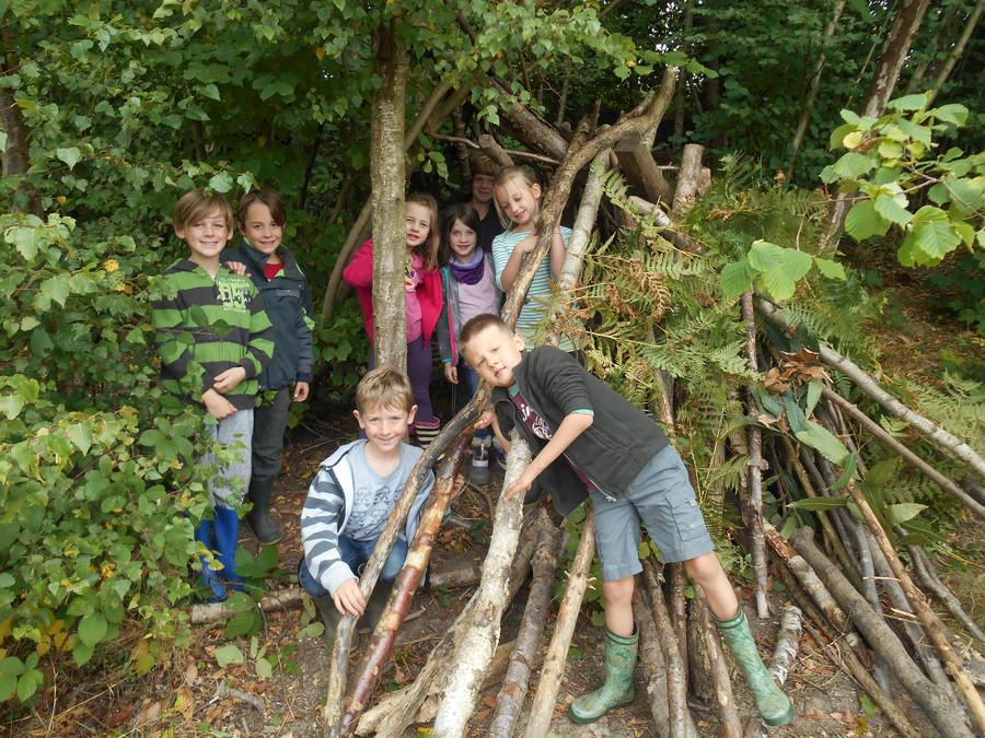Den building - Stig's Woodland Den