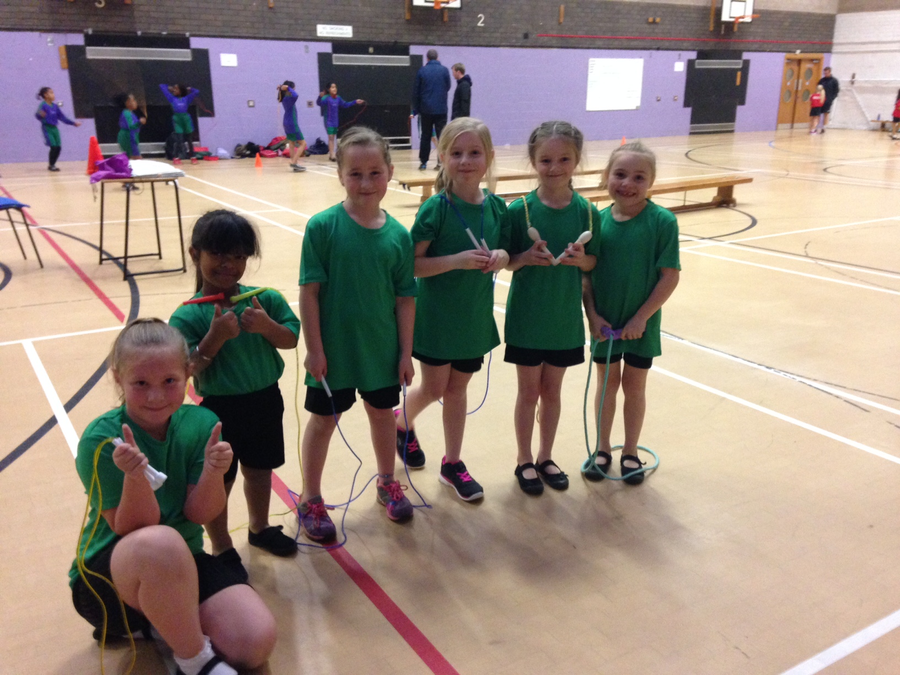 The Year 3 Skipping Team who came in 2nd place