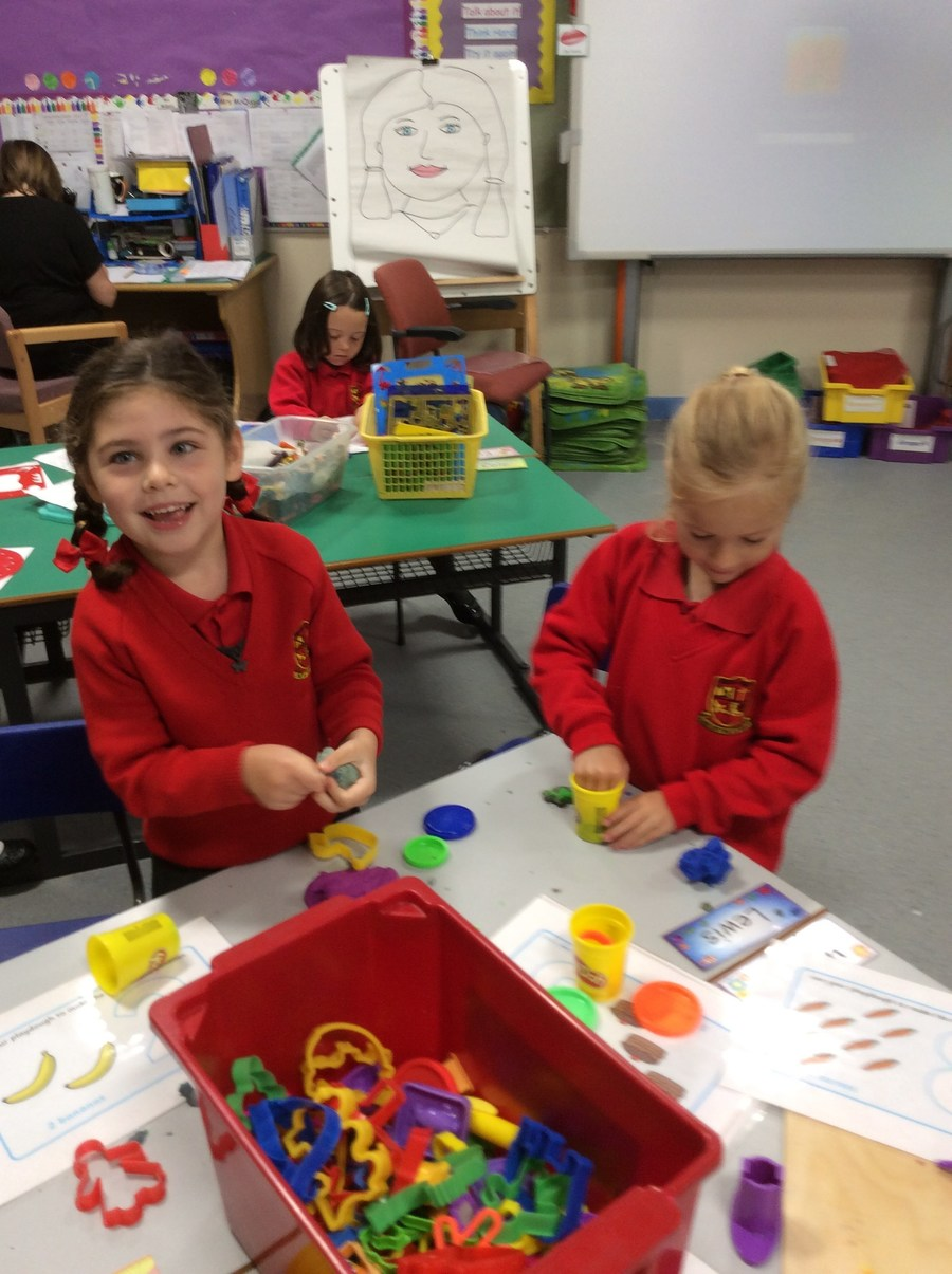 We enjoy playing with play dough