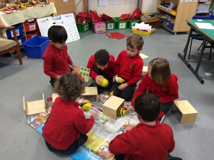 We have lots of fun giving Beebot instructions to tell it where to go