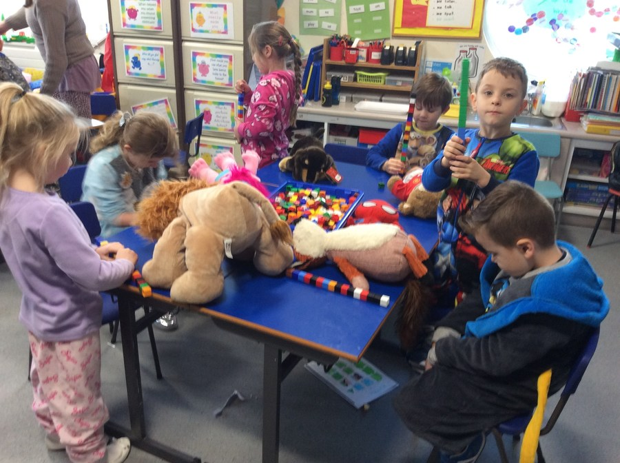 We measured how long our teddies were