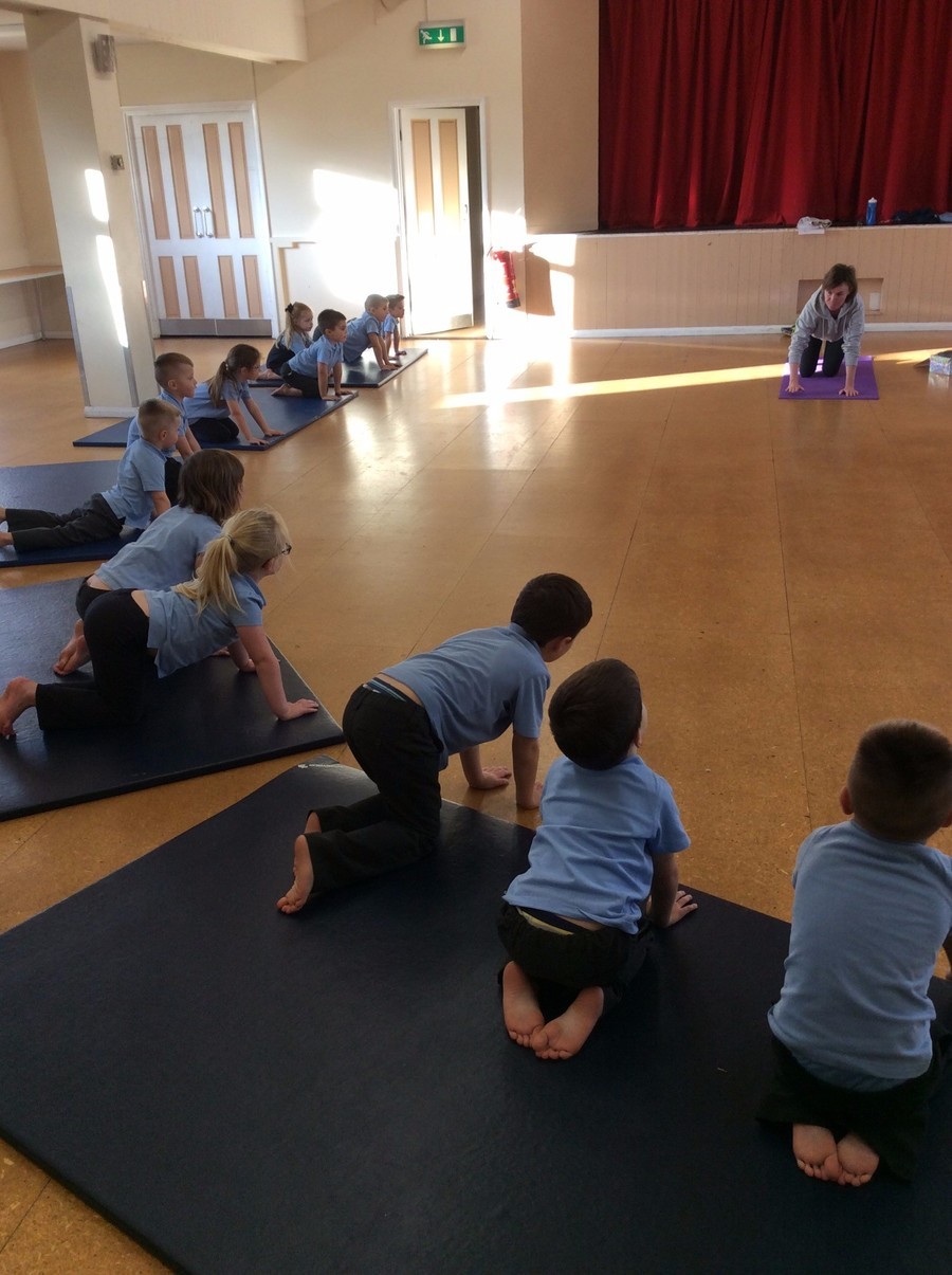 The children enjoyed a yoga experience with a visitor from YogaBugs. They acted out the story 'Bear Hunt' using specially developed moves inspired by yoga combining fun with exercise.