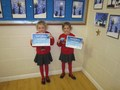 Eva and Lilly received their Stage 4 swimming certificates