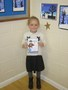 Alexis shared her award for being brave during a visit to A and E...she's broken her finger!